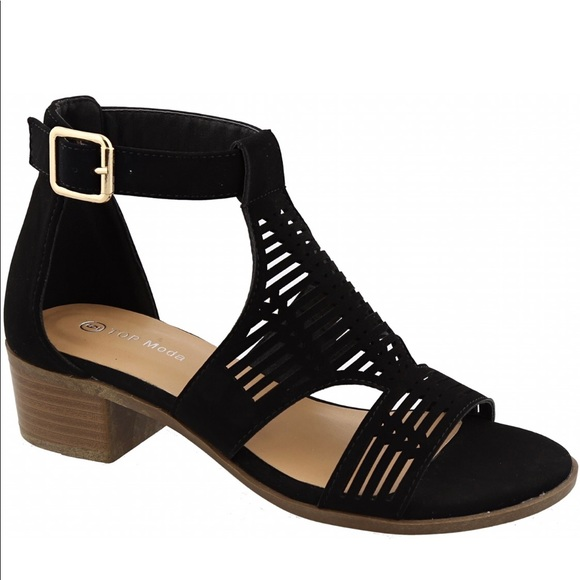 Ankle Strap Low Heel Sandals